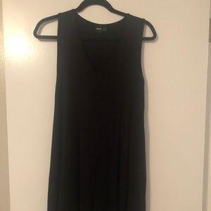 ASOS Black V-neck Swing Dress